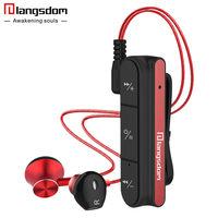 Ihens5 SD1 Switchable V4 1 Bluetooth Earphone Metal Stereo Clip On Wireless Headsets With Microphone Sport