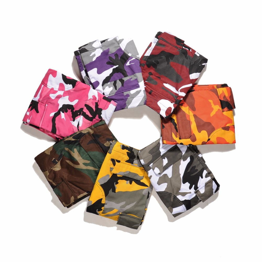 QoolXCWear Camouflage Cargo Pants Men 7 Color Hip Hop Fashion Pants Baggy Tactical Trous ...