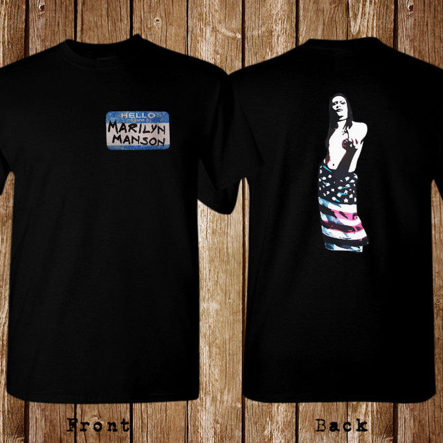 a46bcf61 Marilyn Manson American Flag Size S 5XL T shirt-in T-Shirts from ...