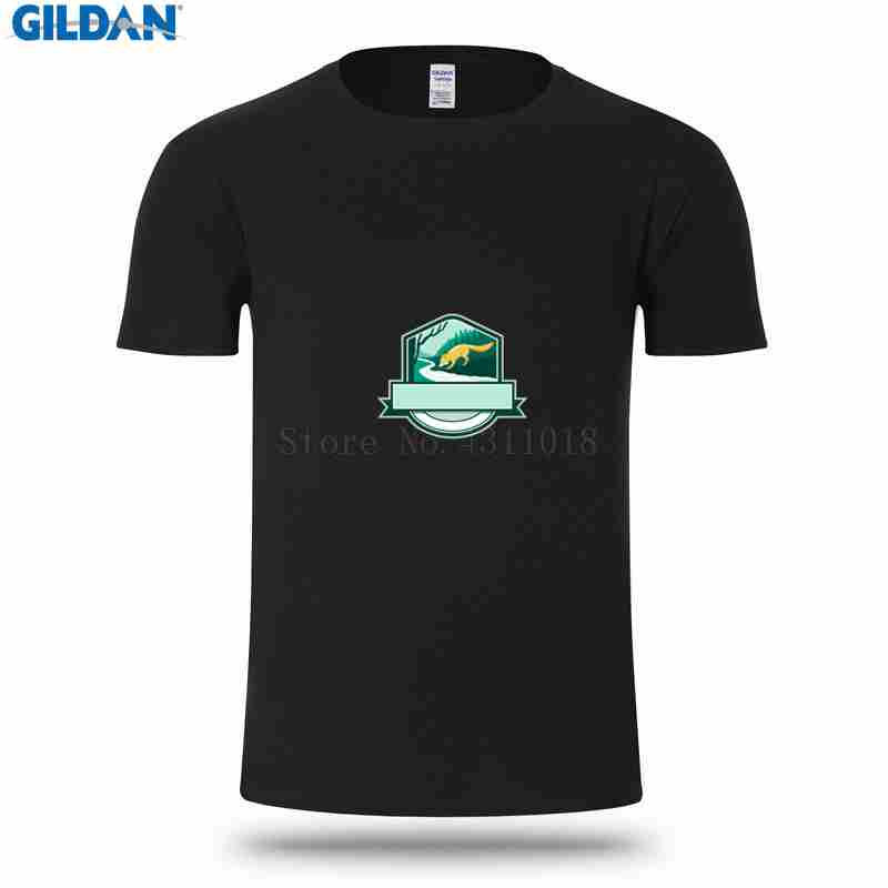 e65f8db2d New Fashion T Shirt Men Basic Solid Stylish Fox Drinking River Creek Woods  Crest Woodcut T Shirts S 3xl Short Sleeve Novelty-in T-Shirts from Men's  Clothing ...