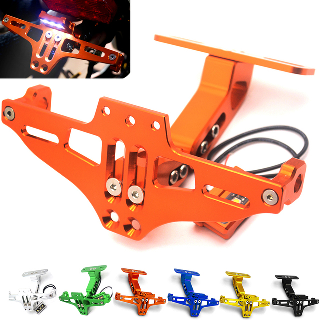 Motorcycle Angle License Number Plate Frame Holder Bracket FOR KTM ...