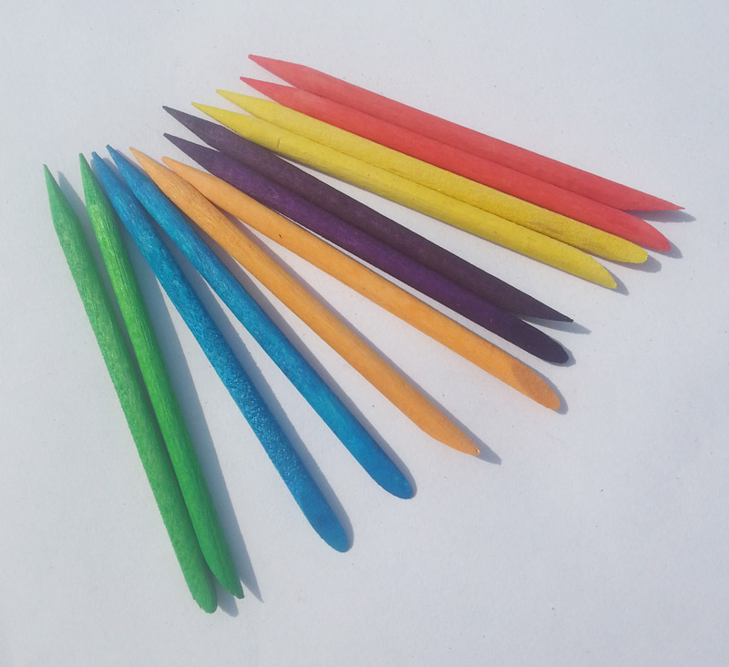 100pcsX75mm mix color Nail Art Design Orange Wood Stick Cuticle Pusher Remover Manicure Care + Free Shipping