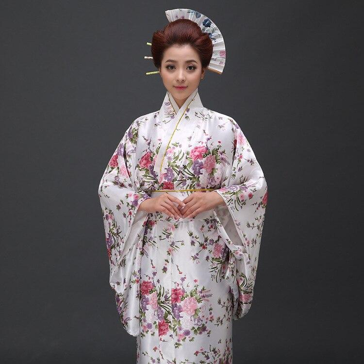 Nye Ankom Kvinner Japansk Kimono Tradisjonell Kostyme Kvinne Yukata - Nasjonale klær - Bilde 3