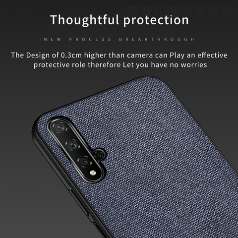 Cotton Cloth Case For Huawei Honor 20 Lite Pro 20I Retra Silicone Fabric Back Cover Honor 20 Lite Case Honor20 Lite Cases 20Lite Multan