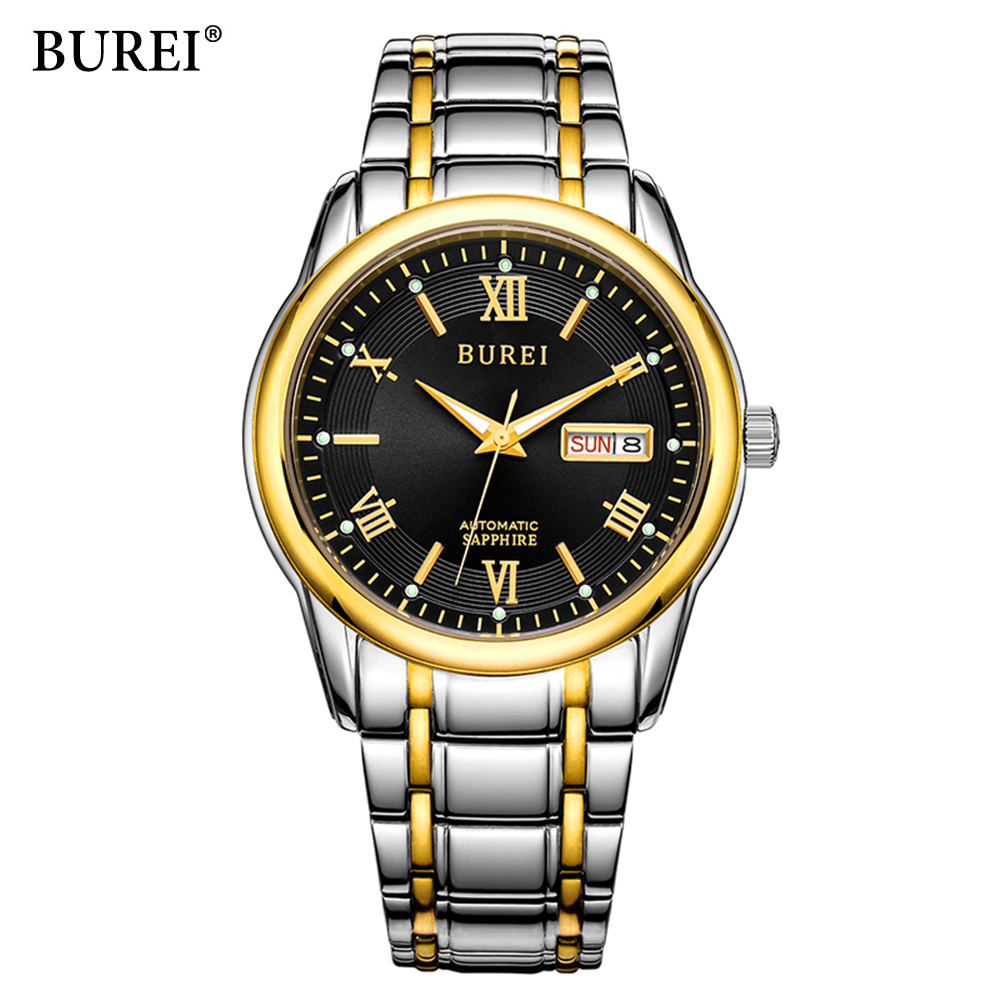 BUREI Luxury Brand Watch Mechanical Watch Men Business Wristwatches Automatic Watches Men Clock Relogio Masculino reloj hombre
