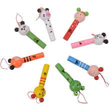 Whistling Cute Cartoon Wood Baby Toy Musical Instrument