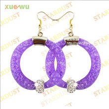 Top selling NEW arrival Resin Crystal Stardust Mesh Earrings ,shamballa beads Gift for women fashion jewelry
