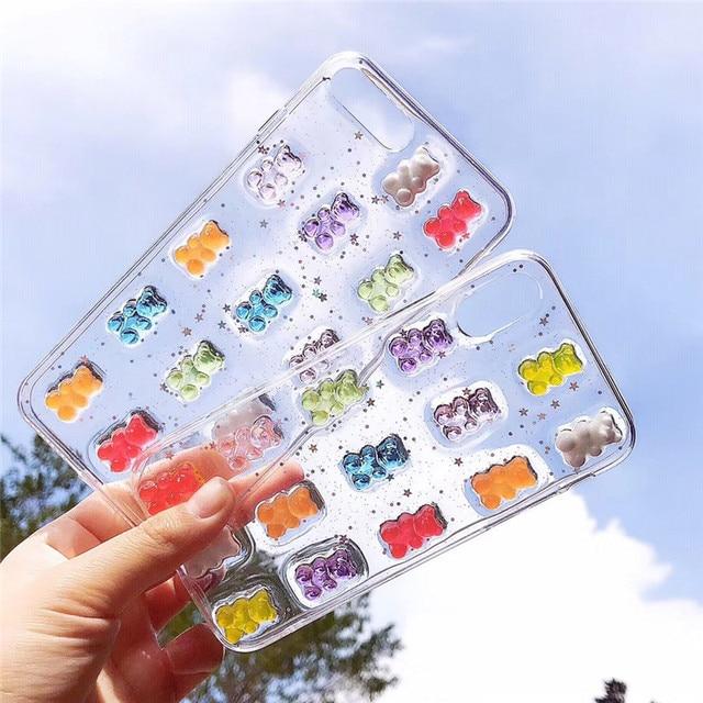 Kawaii Gummy Bear Phone Case for iPhone