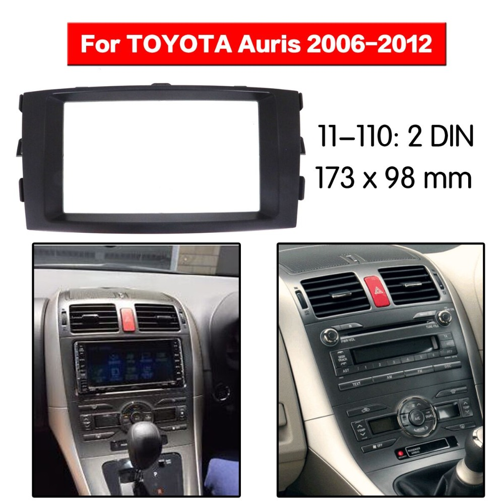 Car Stereo Fitting Near Me >> Two Din Car Radio Fitting Kit Installation Fascia For Toyota Auris 2006 2012 Ebay