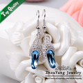 ZHOUYANG ZYE465 Nobleness Crystal  Platinum Plated Earring  Jewelry Made with Genuine  Austrian Crystal Wholesale