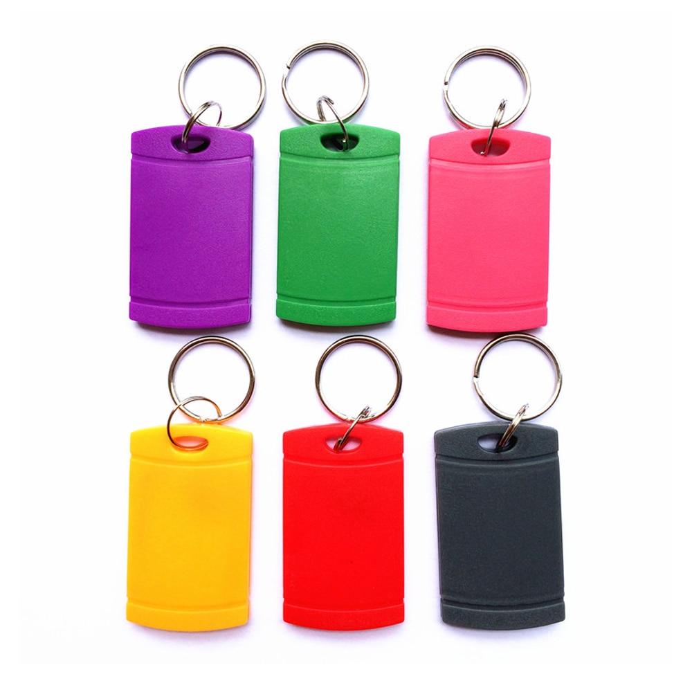 (10pcs) T5577 Rewritable Programmable RFID 125 KHz Keychain Keyfobs Key Finder For Copy EM4100 Cards