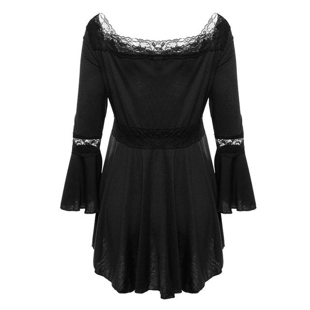 Retro Vintage Ladies Patchwork Lace Dress 2018 Summer Plus Size Ruffle Dresses For Women 4xl 5xl Gothic Party Dress Robes Femme 1
