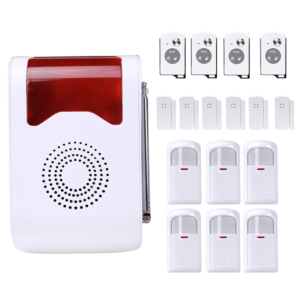 Wireless Home Anti-Theft Alarm System with Door Window Gap Sensor Loudly Voice Prompt Remote Control Smart Alarm System