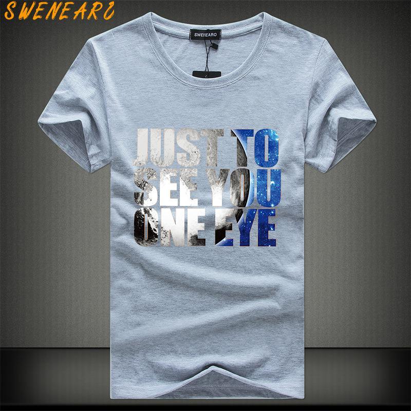 SWENEARO Men   T  -  Shirts   Plus Size 5XL Tee   Shirt   Homme Summer Short Sleeve Casual Men's   T     Shirts   Male TShirts Camiseta Tshirt Homme
