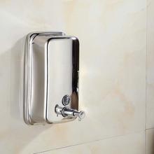 Newly Stainless Steel 304 Liquid Soap Dispenser Wall Mounted Bathroom Soap Dispenser Box Bathroom Accessories 500ml 800ml D