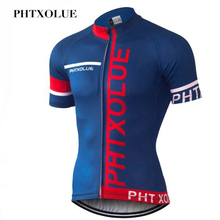 PHTXOLUE Summer Short Sleeve Pro Cycling Jersey Mountain Bicycle Clothing Maillot Ropa Ciclismo Racing Bike Clothes Jerseys цена