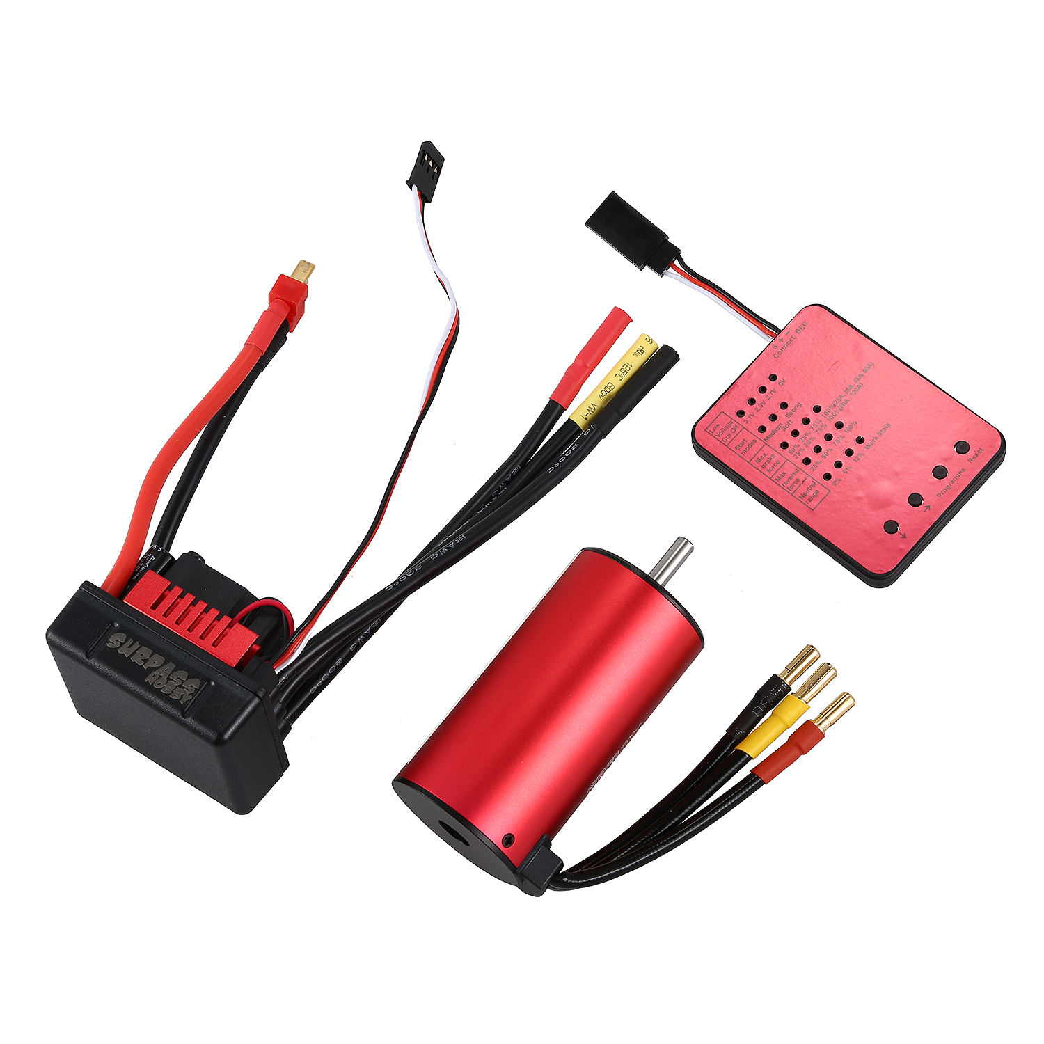 SURPASS HOBBY S3670 2150KV Sensorless Brushless Motor 120A Brushless ESC and Program Card Combo Set for 1/8 RC Car Truck original goolrc s3650 3900kv sensorless brushless motor 60a brushless esc and program card combo set for 1 10 rc car truck