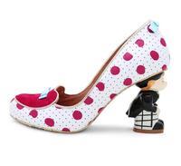 Carpaton Women Wedding Shoes 2018 Round Toe Strange Heels High Heel Shoes Mixed Colors Slip on Dress Heels Leather Fashion Shoe