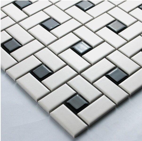 <font><b>white</b></font> color strip ceramic mixed black color square ceramic <font><b>mosaic</b></font> <font><b>tiles</b></font> kitchen backsplash wall bathroom wall <font><b>and</b></font> floor <font><b>tiles</b></font>