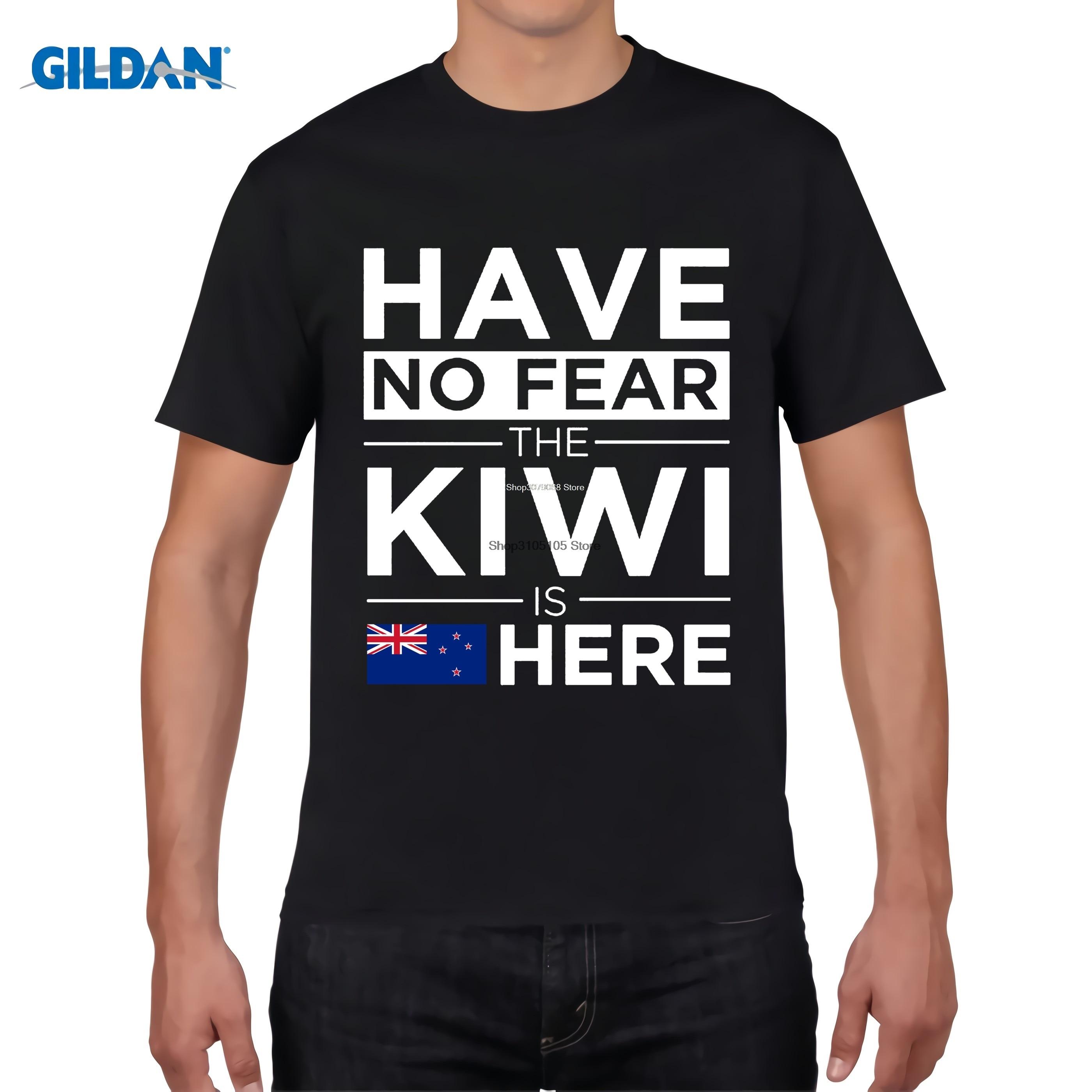 Design t shirt new zealand - Gildan Designer T Shirt Homme Fitness Have No Fear The Kiwi Is Here Pride Tshirt Proud New Zealand Design T Shirt