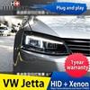 Hireno Headlamp For Volkswagen Jetta 2012 17 Headlight Headlight Assembly LED DRL Angel Lens Double Beam