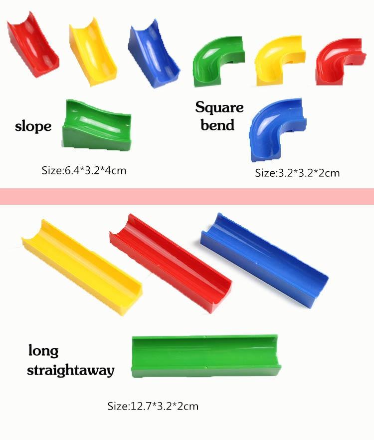 Marble Run Duplo Assemble Plastic Slide Blocks Parts Accessories for Kids DIY Creative Educational Building Toys for Children
