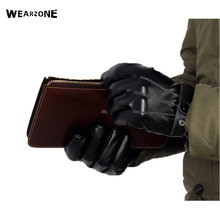2017 New Fashion PU Leather Gloves Men's Winter Warm Gloves Classical Driving Gloves Touch Screen Mittens for man tg465 mt xinje touchwin hmi touch screen 4 3 inch 480 272 new in box