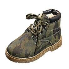 4dbd66bf9c4e4 Kinder Camouflage Schuhe Kleinkind Mädchen Jungen Winter Schnee Stiefel  Stiefel Warme Schuhe baby Junge stiefel chaussures