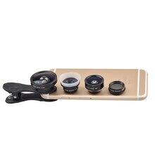 Common Clip 5 in 1 Digicam Lens Equipment for cell phone Lenses Fisheye Macro WideAngle CPL fiter SJ5 free transport