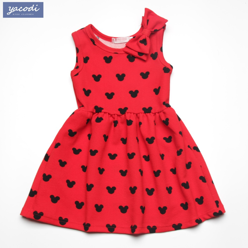 Christmas dress for baby - New Fashion Kids Girl Dress 2017 Summer Brand Baby Girls Clothes Bow Minnie Party Princess Dress Christmas Costume For Age 2 7y