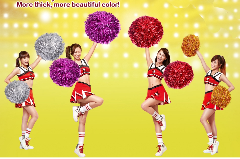 iTrunk 12 Pack Cheerleading Pom Poms Odorless Hand Flowers Cheerleader Pompoms for Party Dance Sports Team Spirit Cheering 9.8 Inch Sports Dance Cheer Plastic Cheerleader Cheerleading for Children
