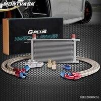 19 Row AN10 Universal Engine Transmission Oil Cooler Filter Adaptor Kit