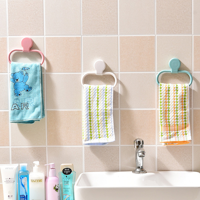 Creative and practical Wall-mounted towel rack Towel Ring bathrooom vKitchen clean cloth Storage rack Bathroom accessories