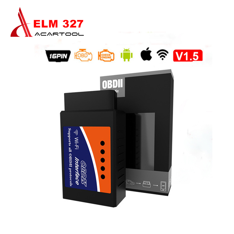 ELM327 Wifi/Bluetooth Auto Diagnostic Scanner OBD2 Diagnostic Tool ELM 327 WIFI OBDII Scanner V1.5/V2.1 Wireless For Android/IOS все цены