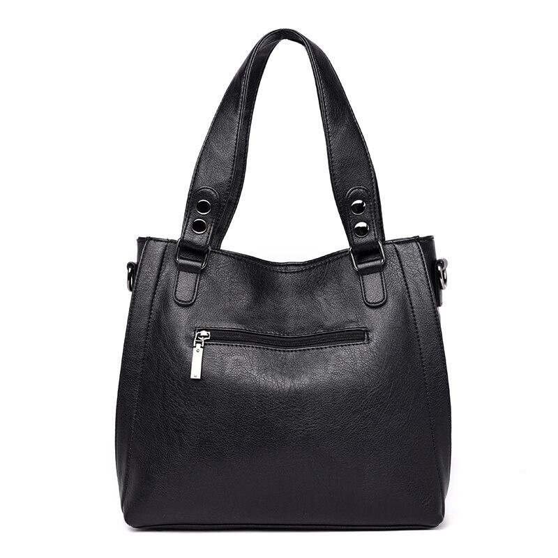 Image 4 - NEW Fashion Leather Women Bags Handbags Women Famous Brands  Luxury Designer Plaid Sholder Bag Ladies Big Casual Tote Sac A  MainTop-Handle Bags
