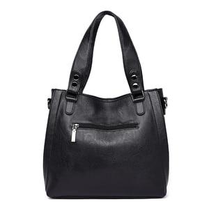 Image 4 - NEW Fashion Leather Women Bags Handbags Women Famous Brands Luxury Designer Plaid Sholder Bag Ladies Big Casual Tote Sac A Main