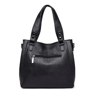 Image 4 - Yeni moda deri kadın çanta çanta kadın ünlü markalar lüks tasarımcı ekose omuz çantası bayanlar büyük Casual Tote Sac bir ana