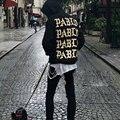 2017 Camisolas Hoodies Paris Eu sinto como pablo Pablo Kanye Homens Hoody Pullovers Camisolas Rap Preto Branco