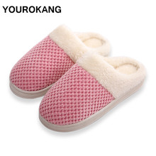 Newest Women Slippers Winter Warm Home Slippers Indoor Bedroom Floor House Shoes Fashion Furry Cotton Plush Couple Shoes Soft home floor cute couple cotton slippers winter love indoor slippers heart soft bottom keep warm cotton mop wear comfortable