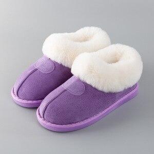 Image 4 - PIETRA VILLAGGIO Nuove pantofole di cotone donne di spessore inverno più velluto scarpe di cotone di inverno delle donne calde pantofole di peluche