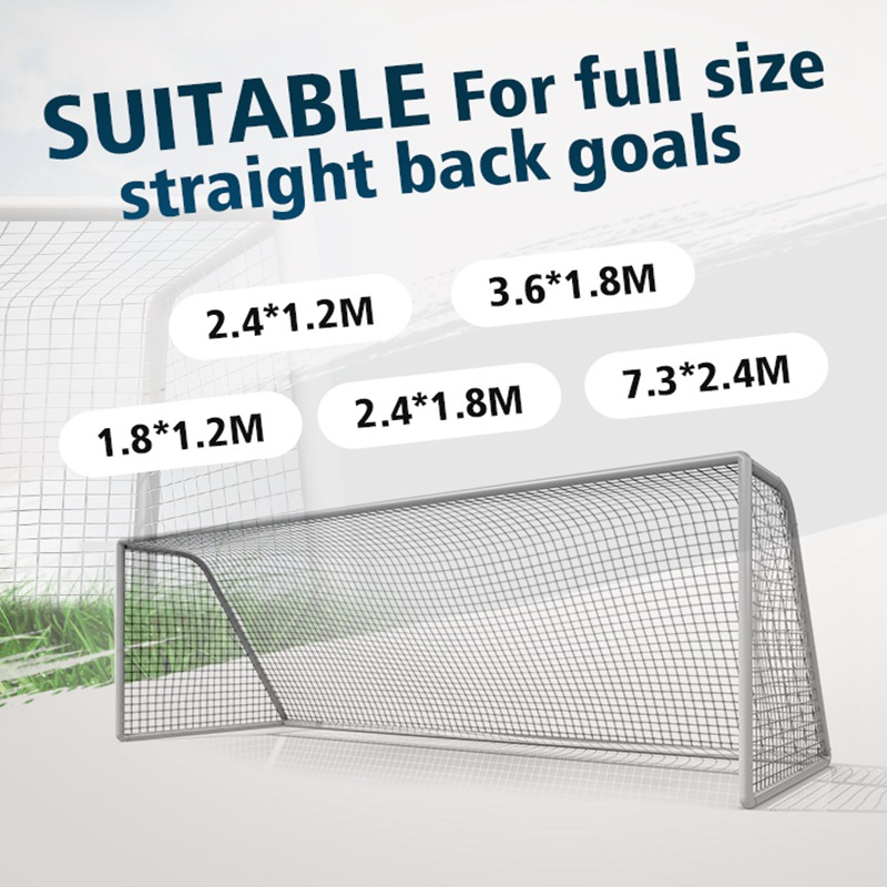 5 Sizes Soccer Goal Net Football Goal Net Polypropylene Football Net For Soccer Goal Post Junior Adult Kids Sports Training