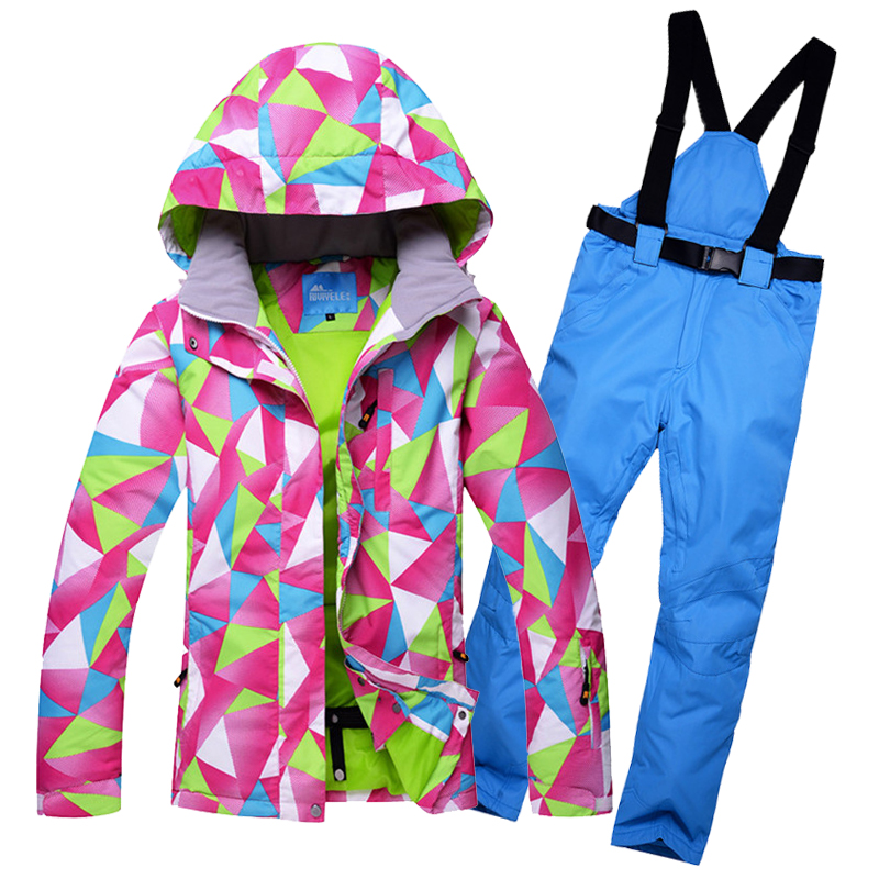 RIVIYELE SNOW Women Ski suit Jacket+Pants Womens Snowboarding Suits Super Waterproof Breathable  Winter Snow Sportswear ClothinRIVIYELE SNOW Women Ski suit Jacket+Pants Womens Snowboarding Suits Super Waterproof Breathable  Winter Snow Sportswear Clothin
