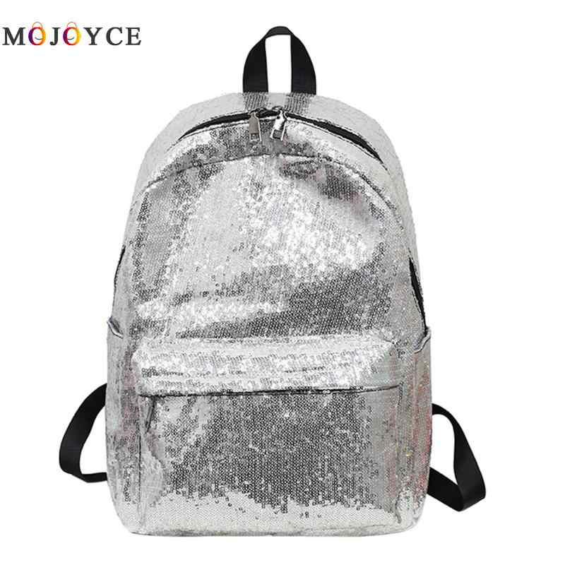 c4c3321275f7 Украшенные блестками Для женщин рюкзаки большой Размеры для девочек школьные  рюкзаки путешествия через плечо Дети подросток