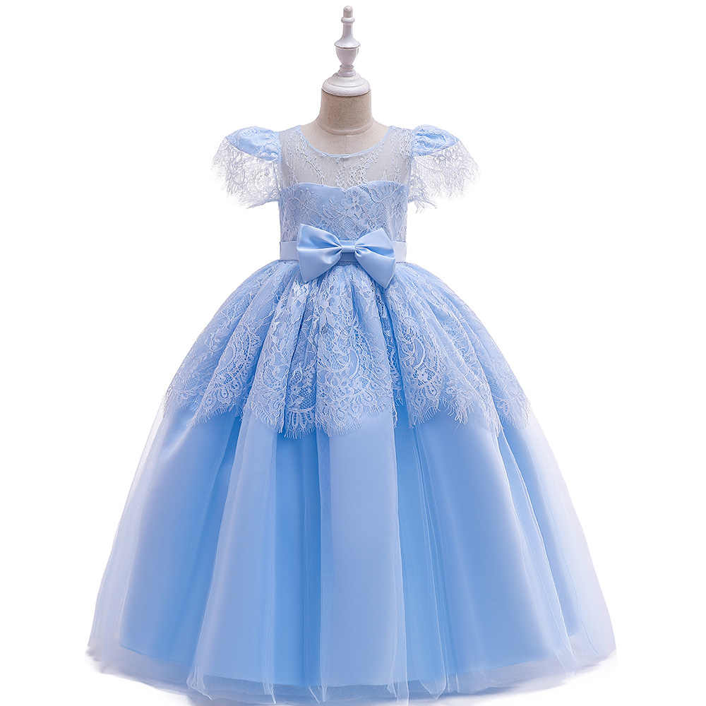 Adolescente Meninas Rendas Vestido de Criança Meninas Primeira Comunhão Vestidos de Tule Princesa Casamento Traje Para A MENINA Crianças Roupas vestidos