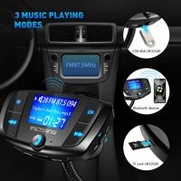 44 VicTsing Bluetooth FM Transmitter Car Wireless Radio Bluetooth Adapter QC3.0 Dual USB Quick Charge MP3 Playing with 1.44?Display (5)