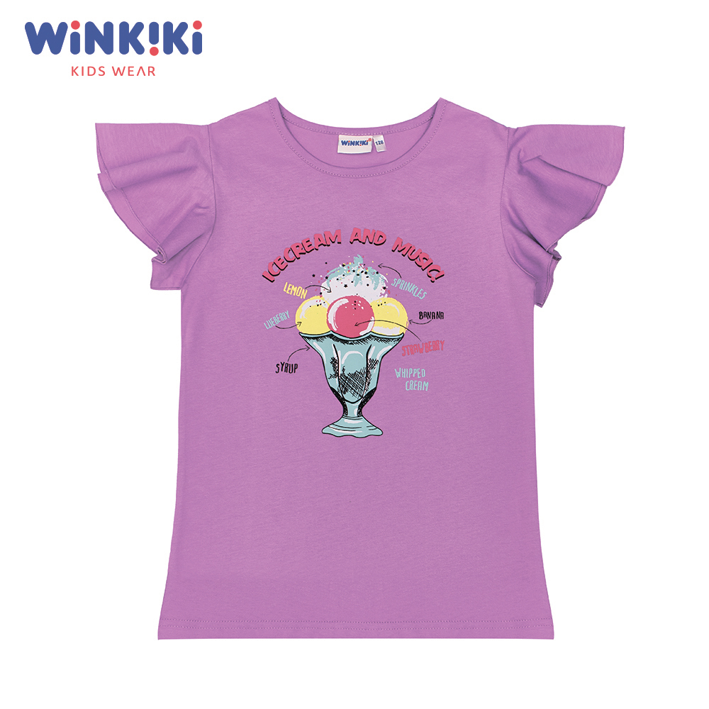 T-Shirts WINKIKI WJG91400 T-shirt kids children clothing Cotton Yellow Girls Casual shein kiddie white cartoon print casual t shirt toddler girl tops 2019 spring fashion short sleeve girls shirts kids tee
