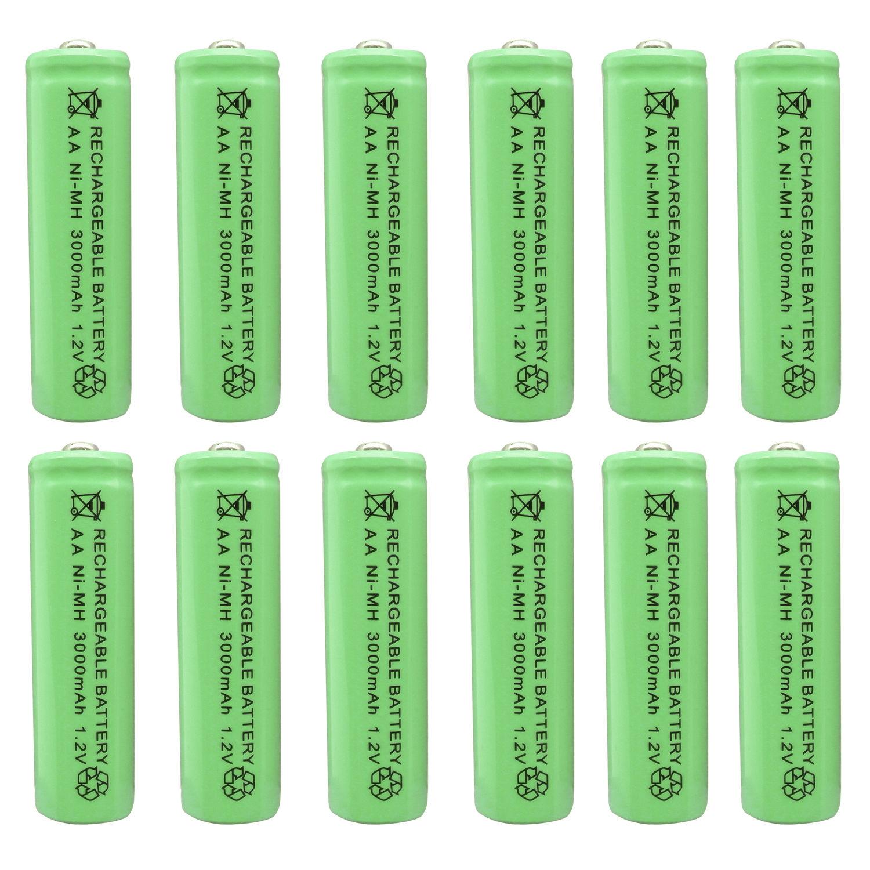GTF AA 3000 mAh 1.2 V Ni-MH NiMH Rechargeable Batterie Pour Montres, souris, ordinateurs, jouets et Cellulaire Lampe de Poche Vert beaucoup de Batterie