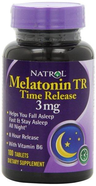 Natrol Melatonina Comprimidos de Liberação Programada, 3 mg 100 ea