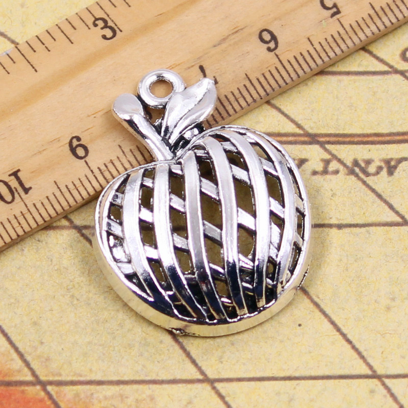 10pcs Charms hollow apple 38*29mm Tibetan Silver Plated Pendants Antique Jewelry Making DIY Handmade Craft