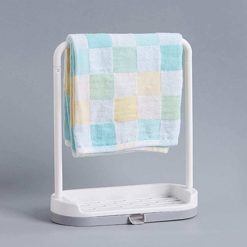 Kitchen Dishes Draining Rack Plastic Towel Sponge Storage Hanger Bar ...